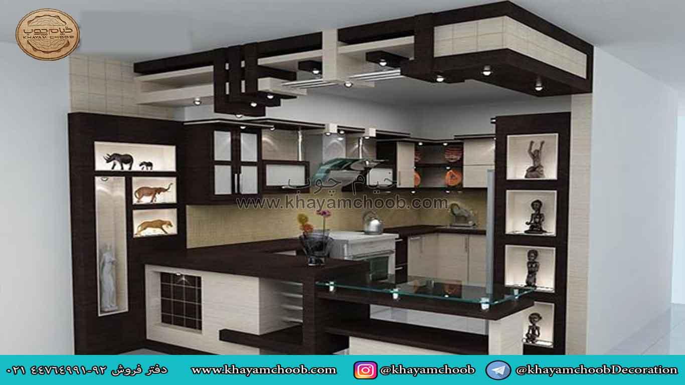 مدل کابینت ام دی اف برای آشپزخانه های کوچک ایرانی